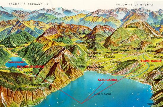 Il fiume Sarca s'immette nel lago di Garda.