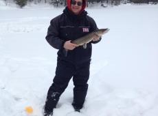 Ontario pike ice fishing