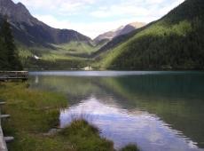 Una veduta del lago di Anterselva