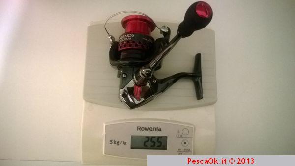 mulinello shimano Aernos 3000 solo 255 Grammi