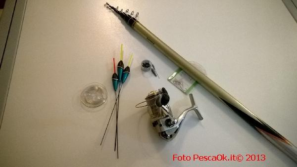 attrezzatura da pesca per iniziare