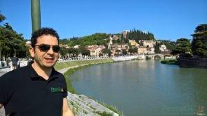 Alessio pesca a Verona