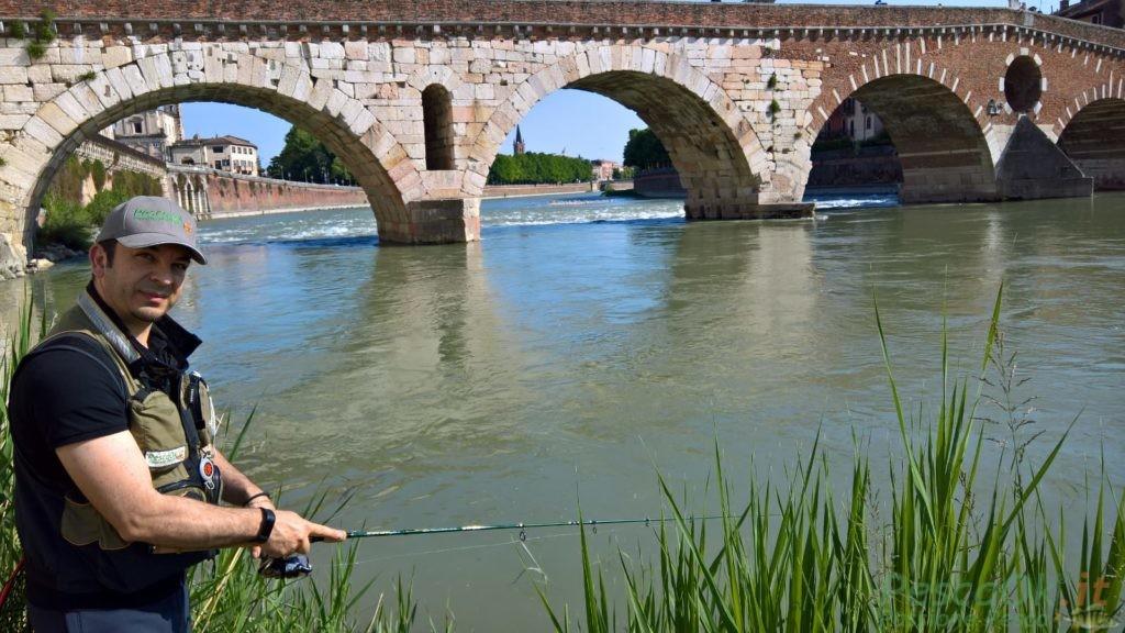 Urban Fishing Ponte pietra Verona